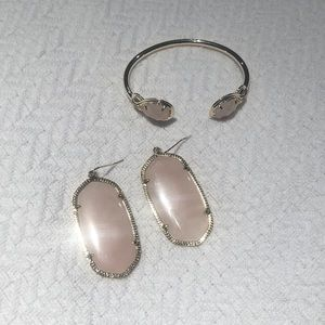 Kendra Scott Earrings and Matching Bangle